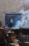 烤肉和肉在面团 库存照片