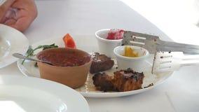 烤肉和菜 影视素材
