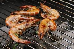 烤肉大虾 免版税库存照片