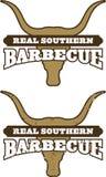 烤肉实际南部的符号 免版税图库摄影