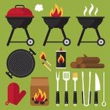 烤肉工具 图库摄影