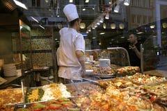 烤肉店在伊斯坦布尔 库存照片