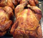 烤肉店整鸡 免版税库存图片