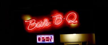 烤肉开放食物的餐馆 免版税库存图片