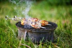 烤肉开胃片断在火的 图库摄影