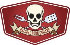 烤肉徽标 库存图片