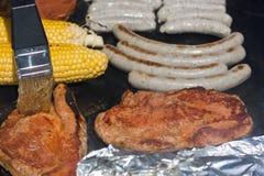 烤肉掠过的调味汁 库存图片