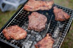 烤肉木炭格栅 库存照片