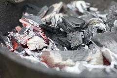 烤肉木炭 库存图片