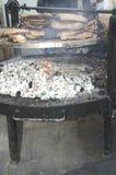 烤肉极大的肋骨 免版税图库摄影