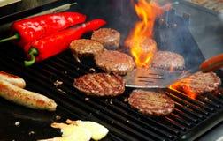 烤肉极热的夏天 库存照片