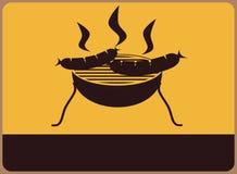 烤肉标志 库存图片