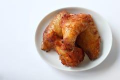 烤肉油炸鸡翅 免版税库存图片