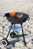 烤肉海滩 免版税图库摄影