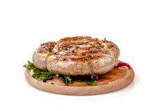 烤肉深度浅域的香肠非常 免版税库存图片