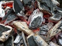 烤肉炭烬 免版税库存图片