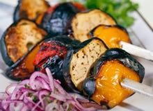 烤肉烤蔬菜 库存照片