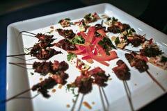烤肉牛肉串开胃菜 库存图片