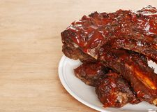 烤肉牛肉特写镜头肋骨备件 库存图片