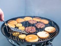 烤肉用牛肉汉堡 库存图片