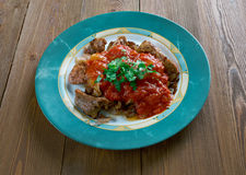 烤肉用辣味番茄酱 库存图片