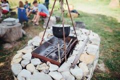 烤肉由石头制成, 免版税库存图片