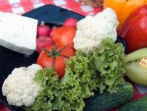 烤肉蔬菜 免版税库存图片