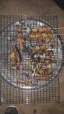 烤肉迪拜沙漠 库存照片