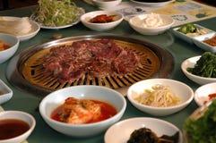 烤肉韩文 库存照片