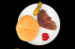 烤肉食物 库存图片