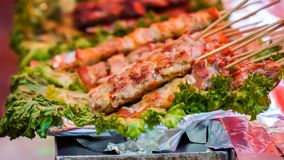 烤肉,亦称Yakiniku 免版税库存照片
