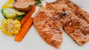 烤肉,煮熟,内圆角、食物、食物和饮料 免版税库存照片