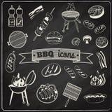 烤肉黑板集合 向量例证