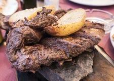 烤肉 Entraña阿根廷 库存照片
