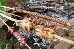 烤肉rosting的肉 库存图片