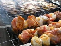 烤肉shashlik 库存照片