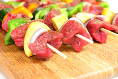 烤肉shish牛排 免版税图库摄影