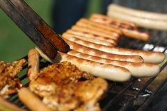 烤肉v 库存照片