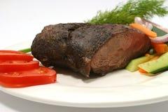烤肋条肉蕃茄 库存照片