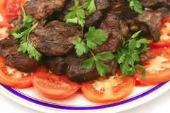 烤肋条肉蕃茄 库存图片