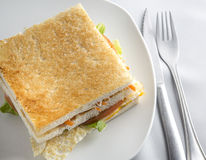 烤菜三明治 免版税库存图片