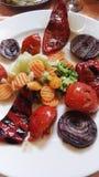 烤蔬菜 免版税库存图片