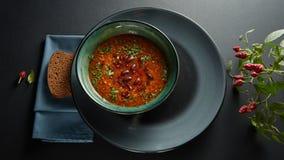 烤蕃茄汤用豆 免版税库存图片