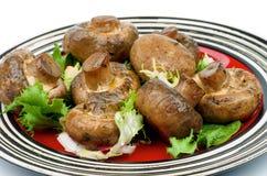 烤蘑菇 图库摄影