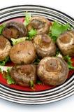 烤蘑菇 免版税库存照片