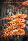 烤虾 开胃菜可口海鲜 免版税库存图片