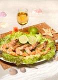 烤虾 图库摄影