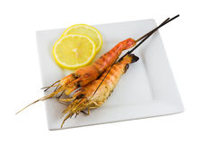 烤虾 免版税库存照片