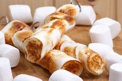 烤蛋白软糖串甜点 免版税库存照片
