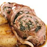 烤被充塞的小牛肉 免版税图库摄影